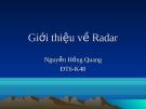 Giới thiệu về Radar - Nguyễn Hồng Quang