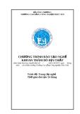 Chương trình đào tạo nghề: Khoan thăm dò địa chất - CĐ CN Phúc Yên