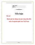 Tiểu luận:Đánh giá tác động của giá xăng dầu đến một số ngành nghề của Việt Nam