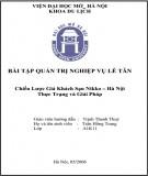 Luận văn Quản trị nghiệp vụ lễ tân - Chiến lược giá khách sạn Nikko - Hà Nội thực trạng và giải pháp