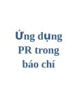 Ứng dụng PR trong báo chí