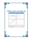 Tài liệu: Tiếp tuyến của hàm số