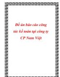 Đề án báo cáo công tác kế toán tại công ty CP Nam Việt