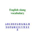 English slang vocabulary