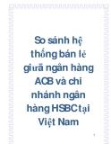 So sánh hệ thống bán lẻ giưã ngân hàng ACB và chi nhánh ngân hàng HSBC tại Việt Nam