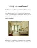 5 lưu ý khi thiết kế cửa sổ
