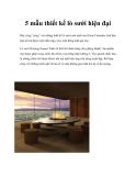 5 mẫu thiết kế lò sưởi hiện đại