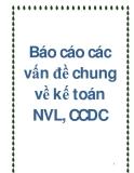 Báo cáo các vấn đề chung về kế toán NVL, CCDC