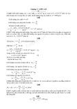 Bài tập Vật lý lớp 10 - Chương V  Chất khí