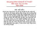 Bài giảng Hình hoạ & Vẽ kỹ thuật - Bùi Văn Hảo (2009)