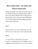 Macromedia Flash - Cách tạo album ảnh bằng kỹ thuật mask