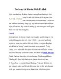 Back up tài khoản Web E-Mail