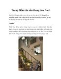 Trang điểm cho cầu thang đón Noel B