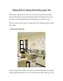 Những thiết kế phòng khách đáng quan tâm
