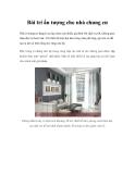 Bài trí ấn tượng cho nhà chung cư