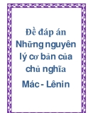 Đề đáp án Những nguyên lý cơ bản của chủ nghĩa mac lenin