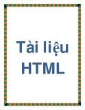 Tài liệu về HTML
