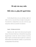 Bí mật của may mắn - Phần 10