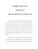 BÀI HỌC NGÀN VÀNG - CHƯƠNG XVI