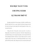BÀI HỌC NGÀN VÀNG - CHƯƠNG XXXIII