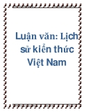Luận văn: Lịch sử kiển thức Việt Nam
