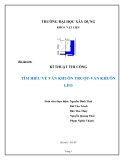 Bài tập lớn: Kĩ thuật thi công tìm hiểu về ván khuôn trượt - ván khuôn leo