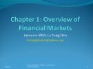 Bài giảng môn học Thị trường tài chính