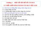 Bài giảng môn Cơ sở Văn hóa Việt Nam