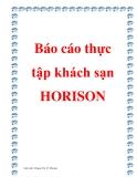 Báo cáo thực tập khách sạn HORISON
