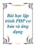 Bài học lập trình PHP cơ bản và ứng dụng - Nguyễn Hữu Duy