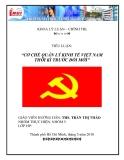 Tiểu luận: Cơ chế quản lý kinh tế Việt Nam thời kỳ trước đổi mới