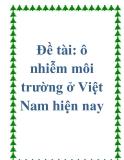 Đề tài: Thực trạng ô nhiễm môi trường ở Việt Nam hiện nay