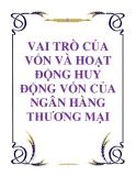 VAI TRÒ CỦA VỐN VÀ HOẠT ĐỘNG HUY ĐỘNG VỐN CỦA NGÂN HÀNG THƯƠNG MẠI