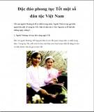 Độc đáo phong tục Tết một số dân tộc Việt Nam