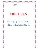 """Tiểu luận: """"Một số lý luận về nhà văn hóa thông tin huyện Cẩm Xuyên"""""""
