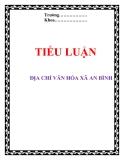 Tiểu luận: Địa chí văn hóa xã An Bình