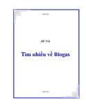 Tiểu luận: Tìm nhiểu về Biogas