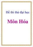 Đề thi thử đại học cao đẳng môn: Hóa THPT Nguyễn Huệ