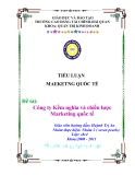 Tiểu luận: Công ty Kềm nghĩa và chiến lược Marketing quốc tế
