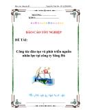 Báo cáo tốt nghiệp: Công tác đào tạo và phát triển nguồn nhân lực tại công ty Sông Đà