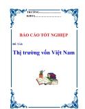 Báo cáo tốt nghiệp:  Thị trường vốn Việt Nam