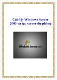 Cài đặt Windows Server 2003 và tạo server dự phòng