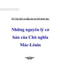 81 Câu hỏi và đáp án trả lời môn học Những nguyên lý cơ bản của Chủ nghĩa Mác