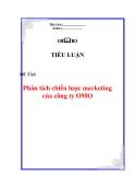 Tiểu luận: Phân tích chiến lược marketing của công ty OMO