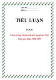"""Tiểu luận:"""" Asean trong chính sách đối ngoại của Việt Nam giai đoan 1991-1995 """""""