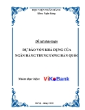 Tiểu luận: Dự báo vốn khả dụng của ngân hàng trung ương Hàn Quốc