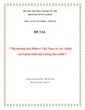 Tiểu luận: Thị trường bảo hiểm ở Việt Nam và các chính sách phát triển thị trường bảo hiểm