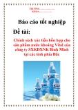 Báo cáo tốt nghiệp: Chính sách xúc tiến hỗn hợp cho sản phẩm nước khoáng Vital của công ty SXKDXNK Bình Minh tại các tỉnh phía bắc