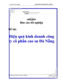 Báo cáo tốt nghiệp: Hiệu quả kinh doanh công ty cổ phần cao su Đà Nẵng