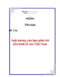 """Tiểu luận: : """"Ảnh hưởng của lạm phát tới nền kinh tế của Việt Nam"""""""